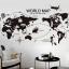 """สติ๊กเกอร์ติดผนังตกแต่งบ้าน """"แผนที่ World Map"""" ความกว้าง 62 cm ความสูง 113 cm thumbnail 2"""