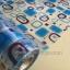 """สติ๊กเกอร์ติดกระจกแบบมีกาวในตัว """"Modern Blue Shape"""" ความสูง 90 cm ตัดแบ่งขายเมตรละ 189 บาท (ขั้นต่ำ 3m) thumbnail 1"""