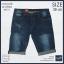 """38""""-44"""" กางเกงยีนส์ขาสั้น ผ้ายืด สีบลูสกาย สกิดขาด รหัส L01-2 thumbnail 2"""