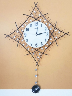 นาฬิกาติดผนัง รุ่นกิ่งพลอยข้าวหลามตัด