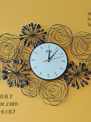 นาฬิกาแขวนผนัง ลายพลุ ตกแต่งบ้านแนวโมเดิร์น Modern
