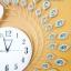 นาฬิกาติดผนัง รุ่นนกยูงเงินพลอยฟ้า thumbnail 2