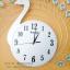 นาฬิกาติดผนัง รุ่นนกยูงเงินพลอยฟ้า thumbnail 4