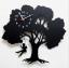 นาฬิกาแขวนผนังเก๋ๆ รูปต้นไม้และเด็กแกว่งชิงช้า thumbnail 1