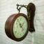 นาฬิกาติดผนัง 2 หน้า สีไม้ ดีไซน์หลุยส์ thumbnail 4