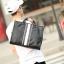 LT45 กระเป๋าถือผู้ชาย + สะพายข้าง หนัง PU สีดำ thumbnail 9