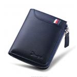 DEELFEL GS05-Blue สีน้ำเงิน กระเป๋าสตางค์ผู้ชายหนังแท้ แนวตั้ง