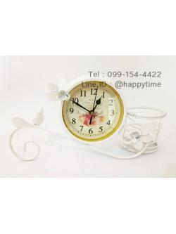 นาฬิกา Vintage ตั้งโต๊ะสวยเก๋ๆ รุ่นนกกิ่งไม้ขาว