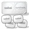 sabai cover ชุดม่านบังแดด SET B ( ม่านบังแดดด้านหน้า x 1 , ม่านบังแดดด้านข้าง x 4