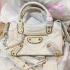 Balenciaga Edge mini City Bag สีขาวครีม งานHiend 1:1