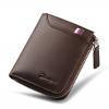 DEELFEL GS05-Brown สีน้ำตาล กระเป๋าสตางค์ผู้ชายหนังแท้ แนวตั้ง
