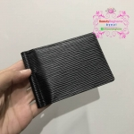 Louis vuitton clip money Wallet สีดำ งานHiend1:1