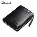 DEELFEL GS05 มี 3 สี ดำ น้ำตาล น้ำเงิน กระเป๋าสตางค์ผู้ชายหนังแท้ กระเป๋าสตางค์ใบสั้น แนวตั้ง กระเป๋าเงิน กระเป๋าถือ