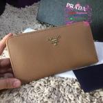 Prada Wallet สีน้ำตาล งานHiend1:1