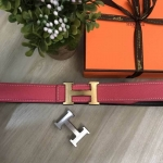 Hermes belt สีชมพู งานHiend 1:1
