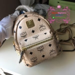 MCM backpack size x mini สีครีม งานHiend Original
