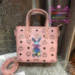 กระเป๋า MCM Mini Anya Top Zip Shopper สีชมพู งานHiend Original