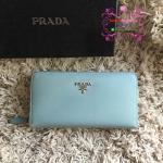 Prada Wallet สีฟ้า งานHiend1:1