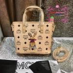 กระเป๋า MCM Mini Anya Top Zip Shopper สีครีม งานHiend Original