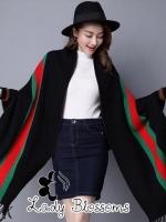 ผ้าคลุมไหล่แบรนด์ Gucci สีดำ
