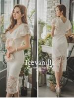 Elegant feminine bow lace Dress
