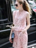 Seoul Secret Say's .... Pastel Salmon Pink Lace Set