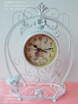 นาฬิกาตั้งโต๊ะวินเทจ สีขาวสองหน้า