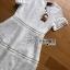 Lady Ribbon's Made Lady Leah Striped Layered White Lace Dress thumbnail 10