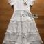 Lady Ribbon's Made Lady Leah Striped Layered White Lace Dress thumbnail 9