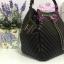 Chanel Chevron Chain Buckle Drawstring Bag สีดำ งานHiend Original thumbnail 3