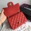 Chanel Classic Flap mini(Square) สีแดง งานHiend 1:1 thumbnail 6