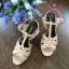 Yves Saint Laurent Tribute Sandal shoes สีชมพู Hiend 1:1 thumbnail 1