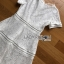 Lady Ribbon's Made Lady Leah Striped Layered White Lace Dress thumbnail 11