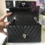 Chanel Classic Flap mini chevron สีดำ งานHiend Original thumbnail 3