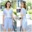 Lady Ribbon's Made Lady Gabby Feminine Pretty Blue Floral Lace Dress thumbnail 6