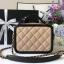 Chanel CC Filigree Vanity Case สีครีม งานHiend Original thumbnail 3