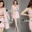 Seoul Secret Say's... Chic Coral Pink Cami Suite Set สีชมพู thumbnail 2