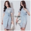 🎀 Lady Ribbon's Made 🎀Lady Sofia Graphic Two-Tone Baby Blue Dress thumbnail 7