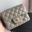 Chanel Classic Flap mini(Square) สีเทา งานHiend 1:1 thumbnail 1