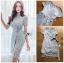 🎀 Lady Ribbon's Made 🎀Lady Sofia Graphic Two-Tone Baby Blue Dress thumbnail 8