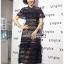 🎀 Lady Ribbon's Made 🎀Lady Adele Sweet Feminine Ruffle Pale Khaki Self-Portrait Lace Maxi Dress thumbnail 1