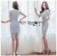 🎀 Lady Ribbon's Made 🎀Lady Sofia Graphic Two-Tone Baby Blue Dress thumbnail 5