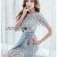 🎀 Lady Ribbon's Made 🎀Lady Sofia Graphic Two-Tone Baby Blue Dress thumbnail 3