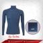 เสื้อรัดกล้ามเนื้อ Rash Guard แขนยาวคอตั้ง สีน้ำเงิน-เทา Royalblue รุ่น Extra (สุดยอดผ้ายืดผิวผ้าลื่น) thumbnail 1