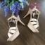 Yves Saint Laurent Tribute Sandal shoes สีชมพู Hiend 1:1 thumbnail 2