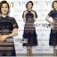 🎀 Lady Ribbon's Made 🎀Lady Adele Sweet Feminine Ruffle Pale Khaki Self-Portrait Lace Maxi Dress thumbnail 2