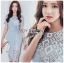 🎀 Lady Ribbon's Made 🎀Lady Sofia Graphic Two-Tone Baby Blue Dress thumbnail 6