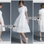 Lady Ribbon's Made Lady Leah Striped Layered White Lace Dress thumbnail 4