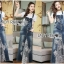 Lady Ribbon's Made Lady Tanya White T-Shirt and Sequin Embroidered Denim and Lace Overall Dress Set thumbnail 7