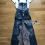 Lady Ribbon's Made Lady Tanya White T-Shirt and Sequin Embroidered Denim and Lace Overall Dress Set thumbnail 13